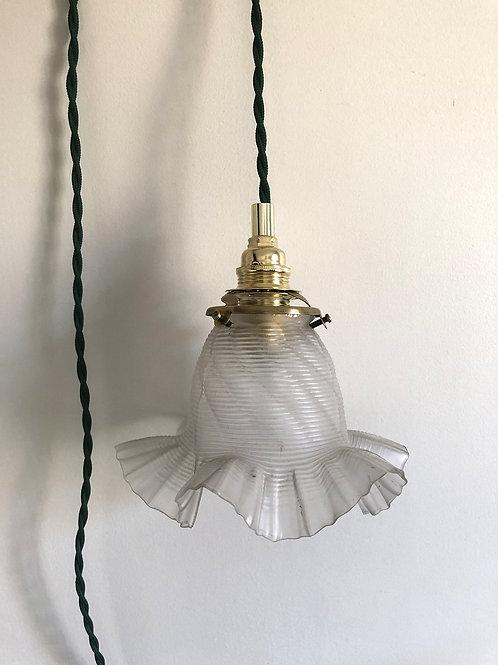 Baladeuse électrifiée avec globe ancien