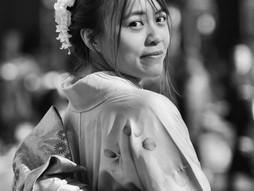 kimono fotos b&w