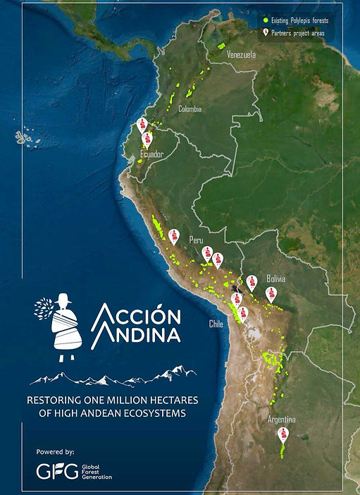 Andes restoration map