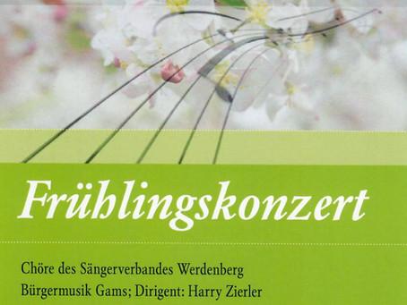 Bezirks-Sängerverband Werdenberg: Frühlingskonzert am 31.03.2019