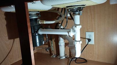 plumbing for granite under sink
