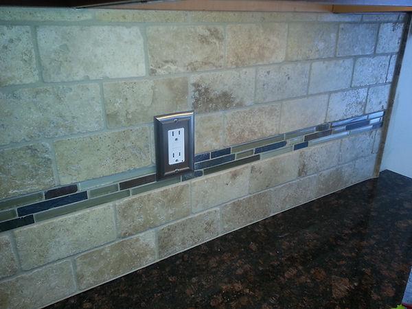 granite tile back splash