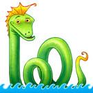 Sea serpent icon