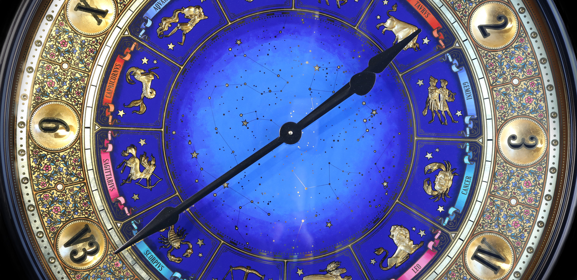 Zodiac Clock close-up