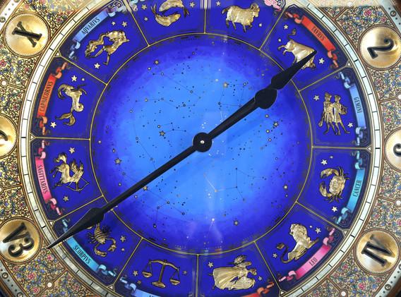 Zodiac Clock close-up