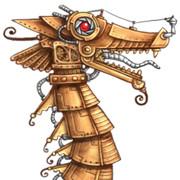 steampunk dragon icon