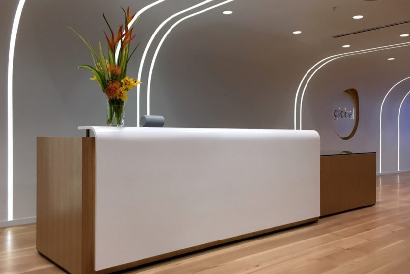 Wood Veneer- Custom Reception