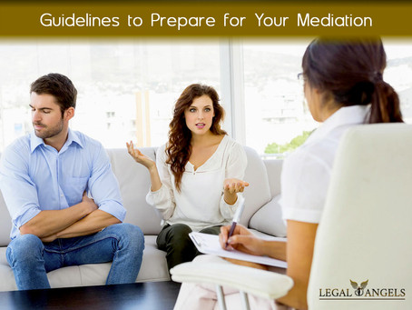 Guidelines to Prepare for Your Mediation