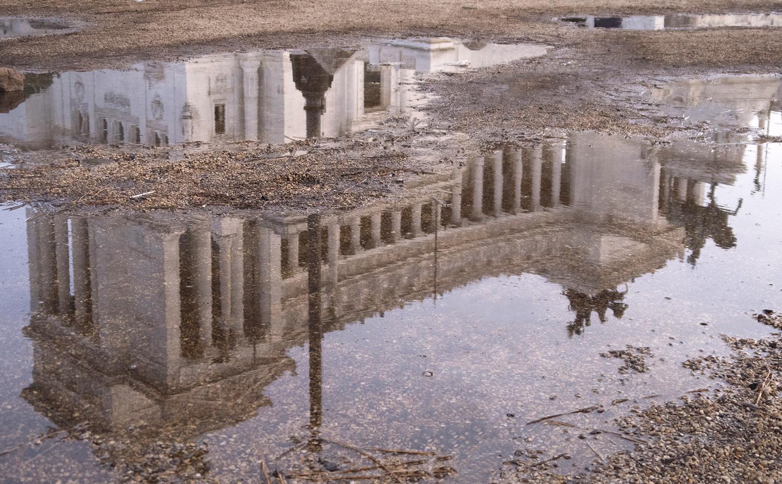 Rainy Day Reflection - Il Vittoriano