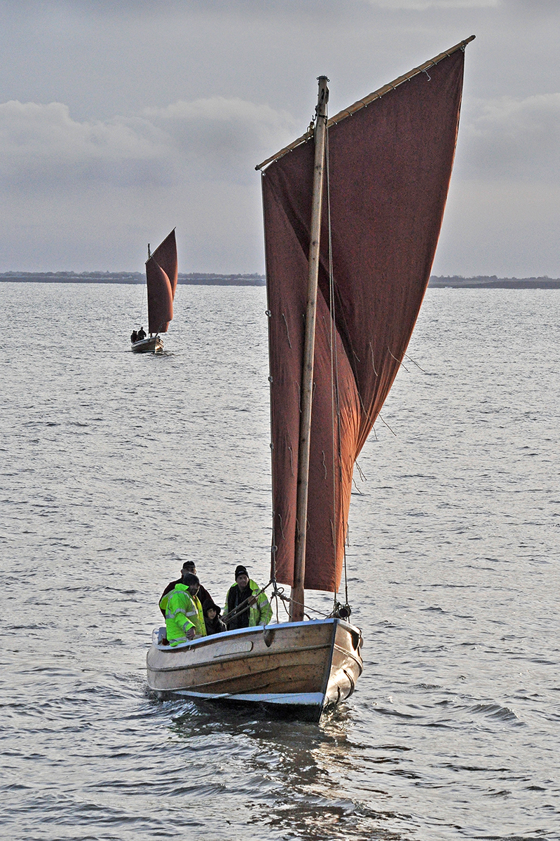 Sailing Cobles Approaching Harbour