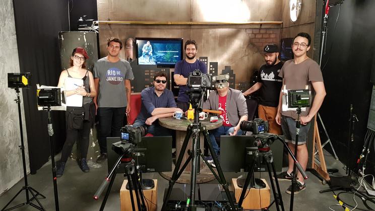 Bastidores gravação com Danilo Genitlli