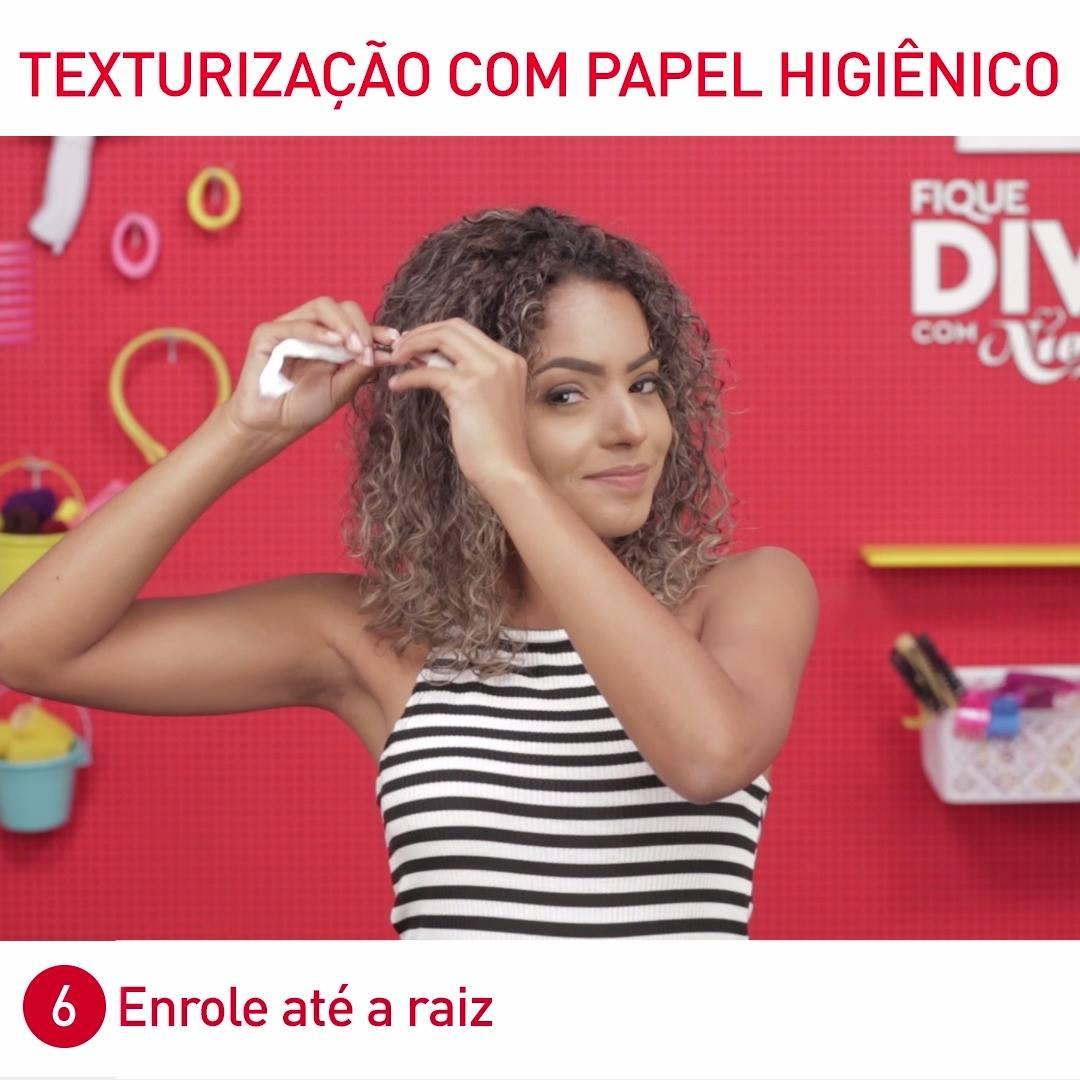 Texturização com papel higiênico!
