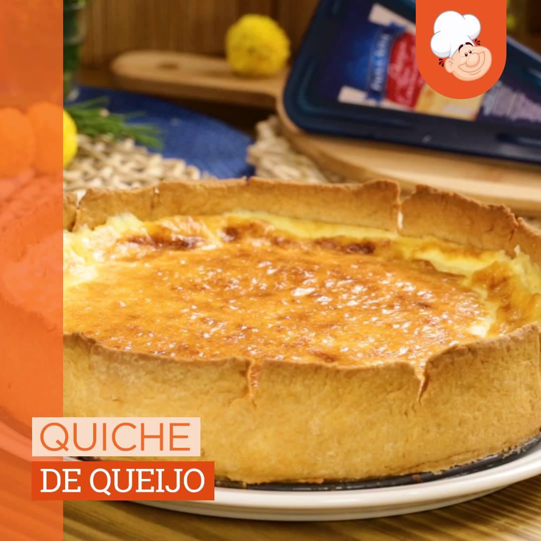 Vem ver como é fácil fazer uma quiche de queijo deliciosa! 🧀 😱