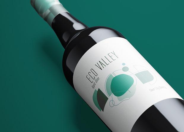 Wine label closeup on branding