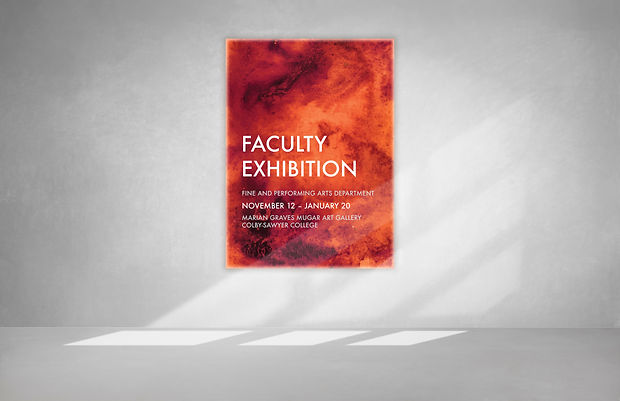 Marian Graves Mugar Gallery faculty exhibition banner