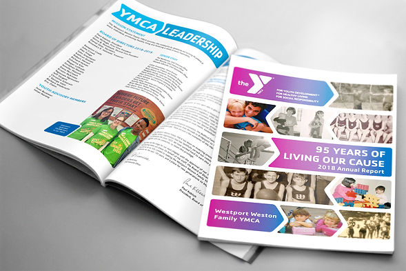 Inside two Annual Reports for YMCA