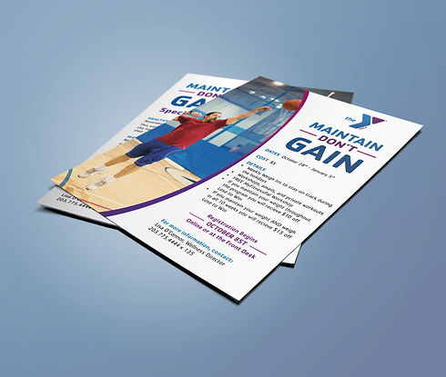 YMCA Maintain Don't Gain flyer front and back