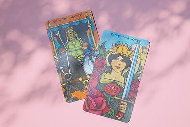 2 cards from Morgan-Greer Tarot Deck