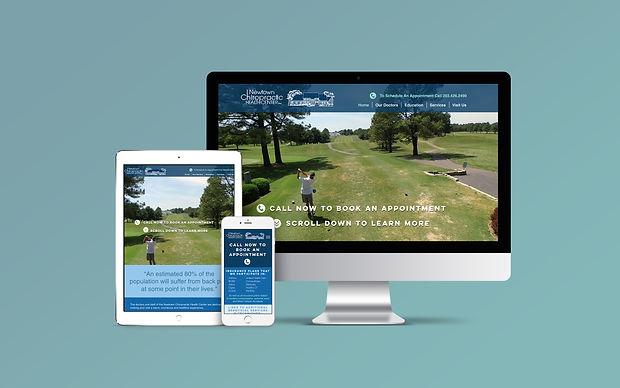 Chiropractor website in desktop, tablet, and mobile view