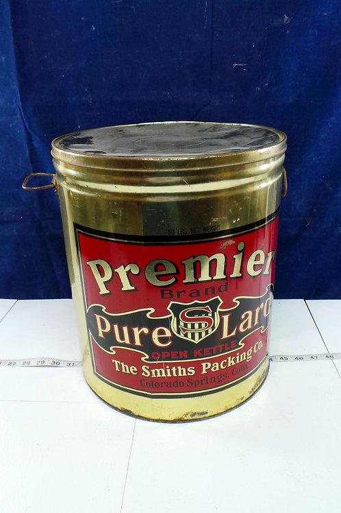 Premier Brand Pure Lard Tin