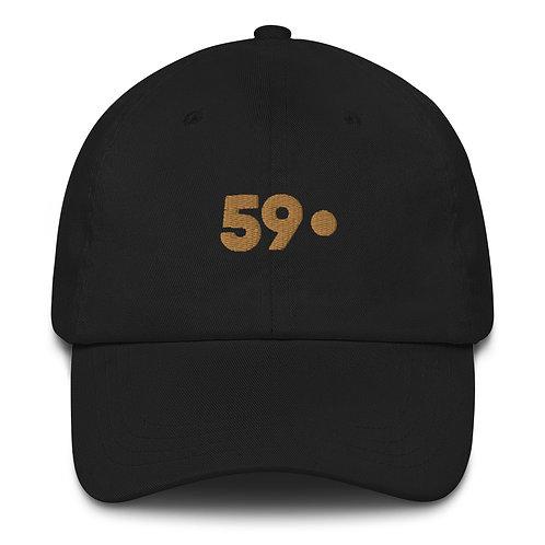 59 Perlen Dad hat - Black / Gold
