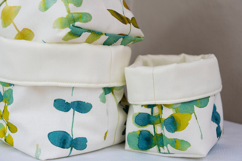 Bits and Bobs Bags - Green Leaf
