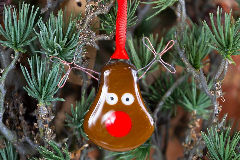 Fused Glass Rudolf