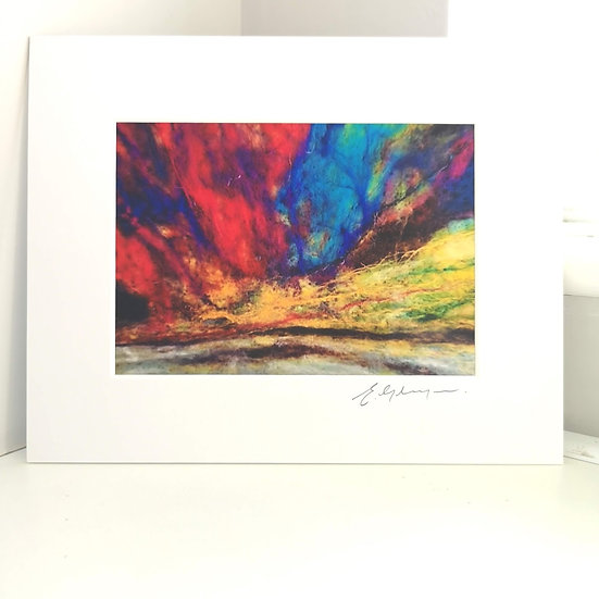 The Northern Lights Are In My Eyes  Mounted Print