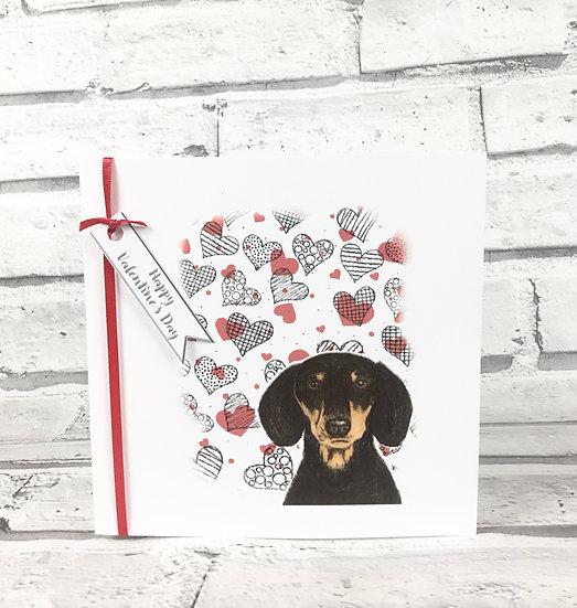 Dachshund Valentine's Card