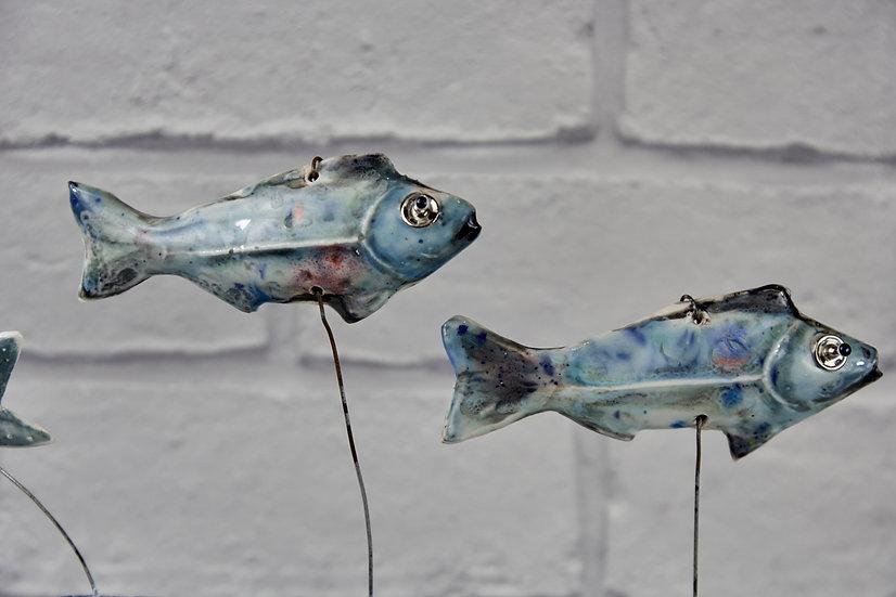 Ceramic Fish on a Log