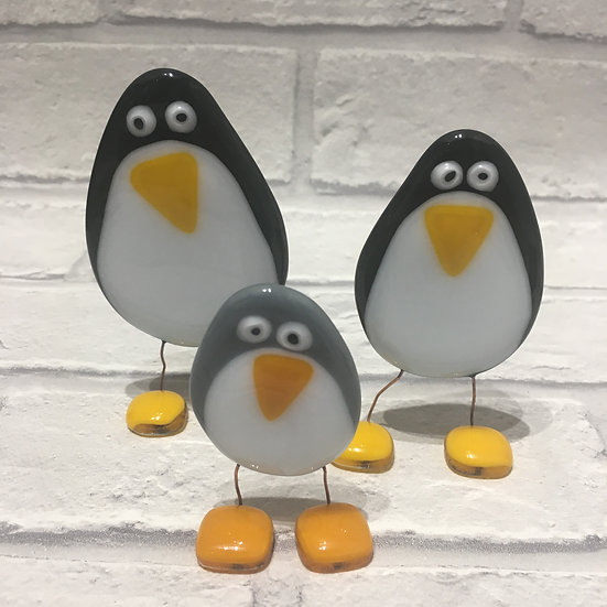 Fused Glass Penguins