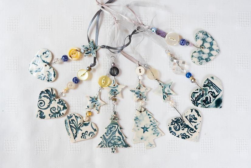 Hanging Decorations in Ceramic