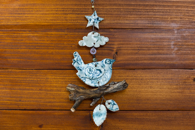 Hanging Ceramic Birds