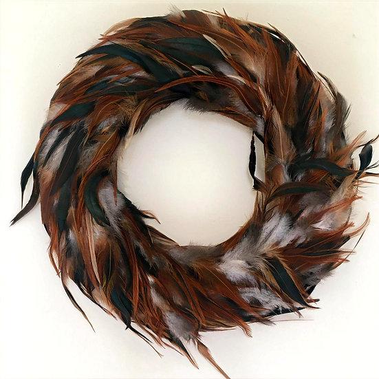 Hen Feather Wreath