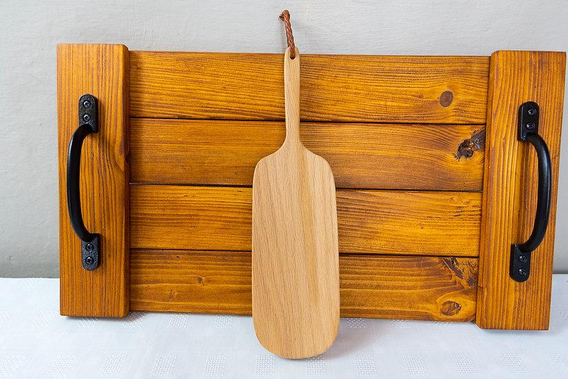 Small Oak Serving Paddle