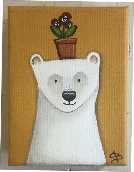 Polar Bear and Plant Pot
