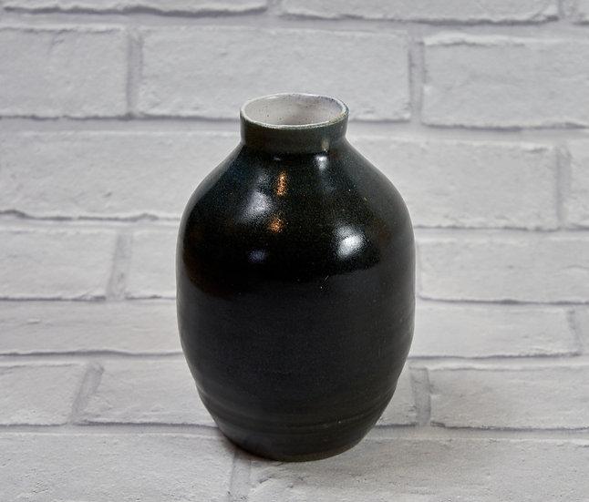Medium Charcoal Glazed Vase