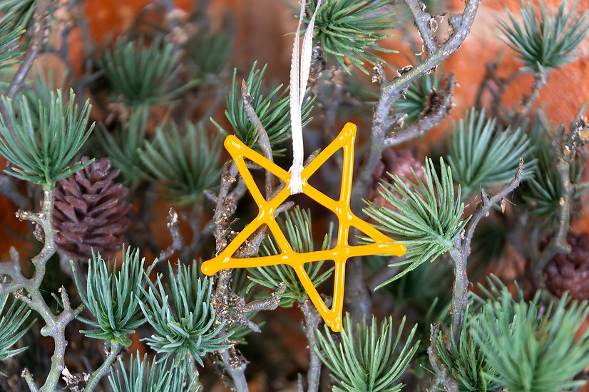 Hanging Fused Glass Star Decoration