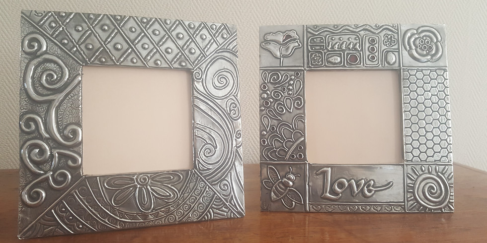 Pewter Picture frames  (2) 26-9-2020