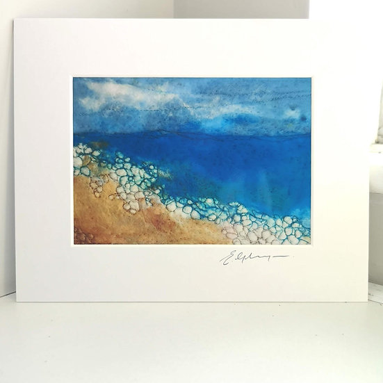 By The Shore Mounted Print
