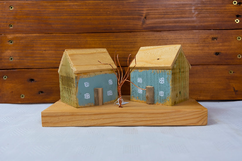 Two Blue Cottages