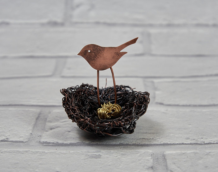 Copper Wire Birds' Nest