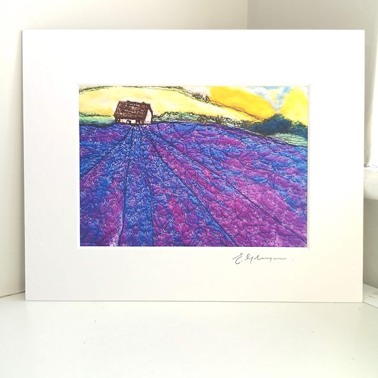 Lavender Blue Dilly Dilly Mounted Art Print