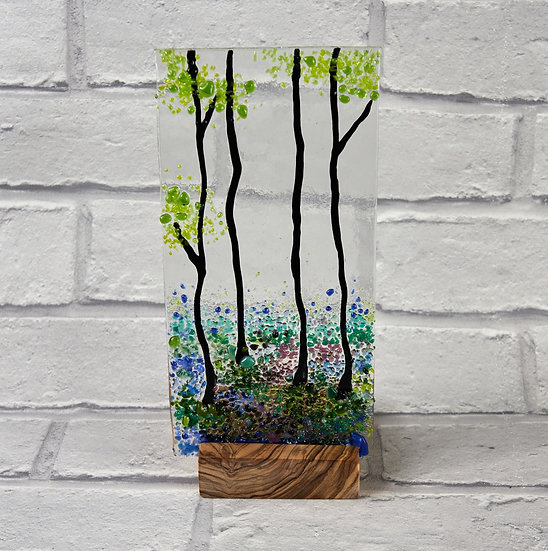 Bluebell Fused Glass Screen