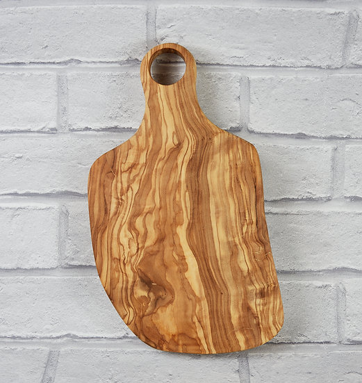 Italian olive wood : Charcuterie board with handle