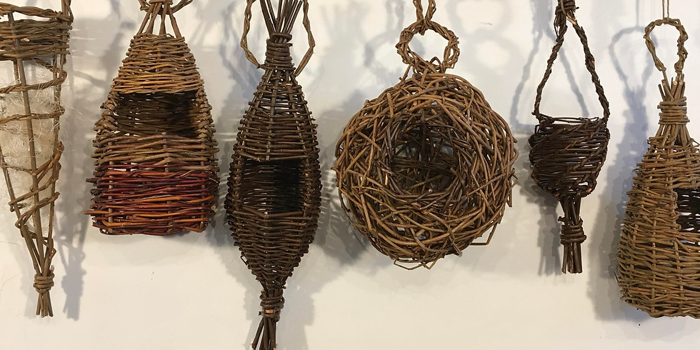 Willow Bird Houses and Feeders