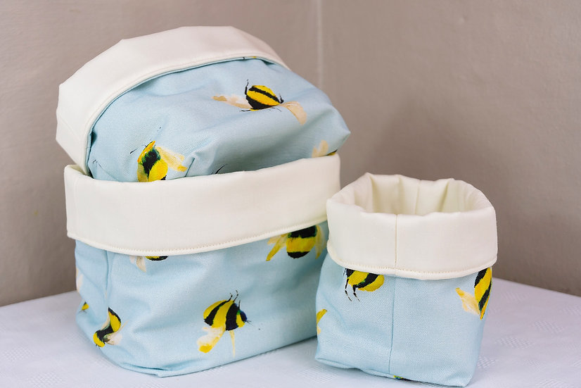 Bits and Bobs Bags - Blue Bumble Bees