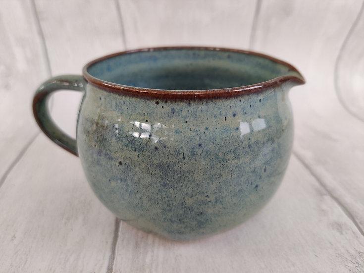 Small Greeny Blue Ceramic Jug
