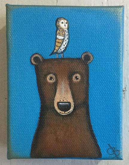 Bear and Barn Owl