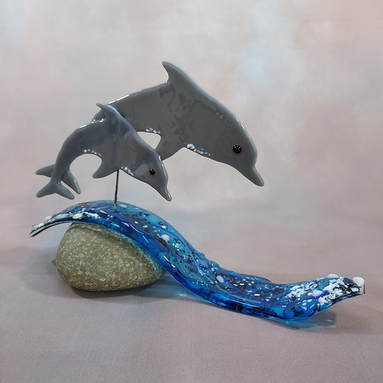 Fused Glass Dolphins